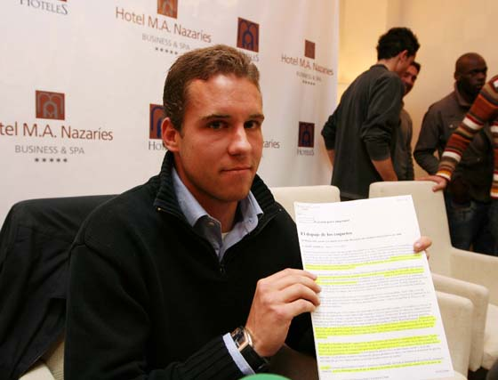 Borja Criado, dos años de sanción por un crecepelo