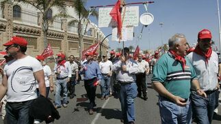 Celebración del Primero de Mayo en Cádiz