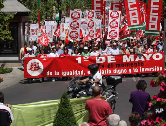 Manifestación del Primero de Mayo en Granada