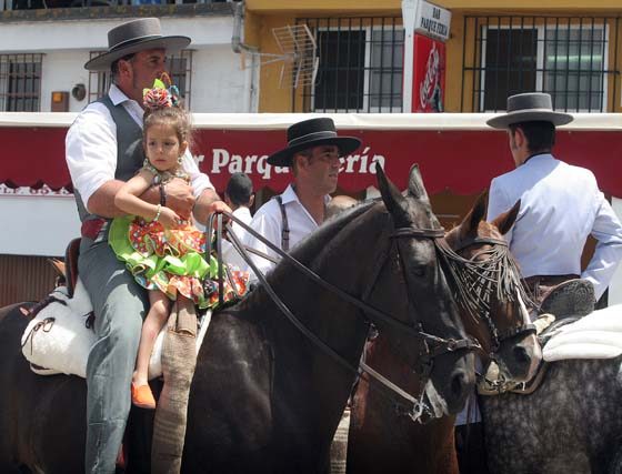 Domingo rociero en la Feria Real de Algeciras
