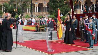 La Infanta Cristina en la entrega de la bandera a la IV Zona de la Guardia Civil