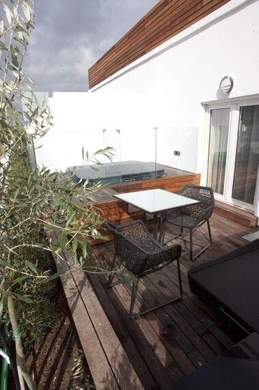 Terraza de una de las habitaciones del hotel.  Foto: Jaime Martinez