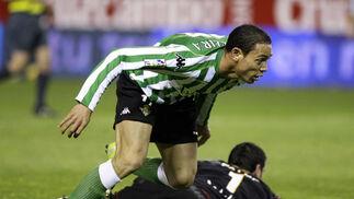 ... Y gol: 0-2 para el Betis. Minuto 83.  Foto: Antonio Pizarro