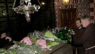 Los monjes capuchinos han rendido tributo a Fray Leopoldo en el aniversario de su muerte.  Foto: Pepe Torres