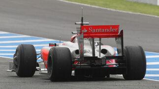 Detalle del alerón trasero del McLaren de 2009.  Foto: J. C. Toro