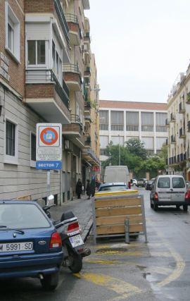Calle Virgen de la Victoria antes del comienzo de las obras.  Foto: Belén Vargas