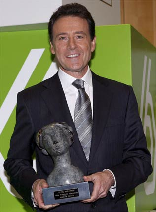 Matías Prats fue premiado, una vez más, como mejor presentador de informativos.   Foto: EFE