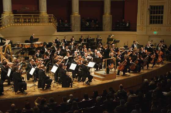 La ROSS, en un momento de su interpretación en la Wiener Konzerthaus.  Foto: Robert Newald