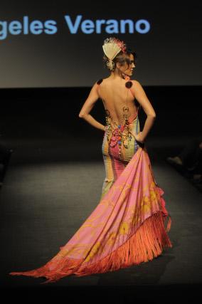 Alba Molina vistió una de las piezas más impresionantes de Verano.  Foto: M. Aranda