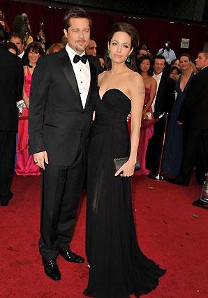 Brad Pitt, nominado por 'El curioso caso de Benjamin Button', y Angelina Jolie, candidata por 'El intercambio'.  Foto: AFP Photo / EFE / Reuters