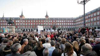 Imagen de la Plaza Mayor de Madrid.  Foto: Juan Carlos Vázquez / Alberto Morales