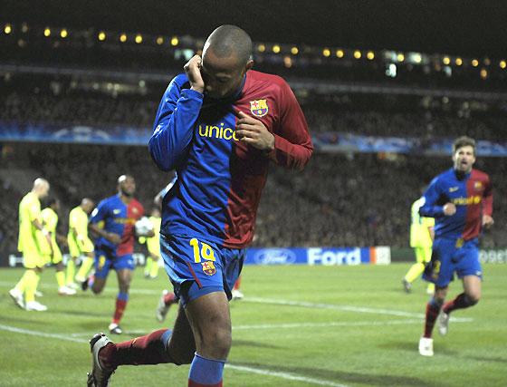 Henry acude al rescate del Barcelona (1-1)