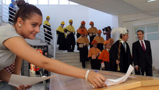 Acto oficial de inauguración del curso universitario en la Facultad de Derecho de la UMA.   Foto: Migue Fernandez