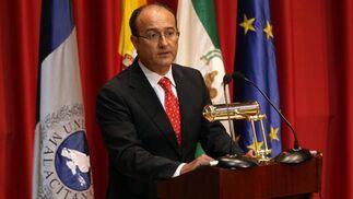 El consejero de Innovación, Ciencia y Empresa, Martín Soler durante su discurso de inauguración.   Foto: Migue Fernandez