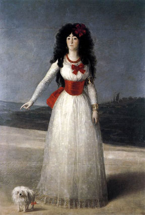Doña María Teresa del Pilar Cayetana de Silva y Álvarez de Toledo, XIII Duquesa de Alba, pintada por Francisco de Goya.