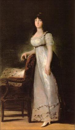María Gabriela Palafox y Portocarrero, Marquesa de Lazán, retratada por Francisco de Goya y Lucientes.