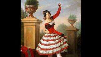 La bailaora Josefa Vargas. Antonio Mª Esquivel. Pintura española. Lienzo. 91 x 72 cm. Palacio de Las Dueñas  Foto: Museo de Bellas Artes de Sevilla