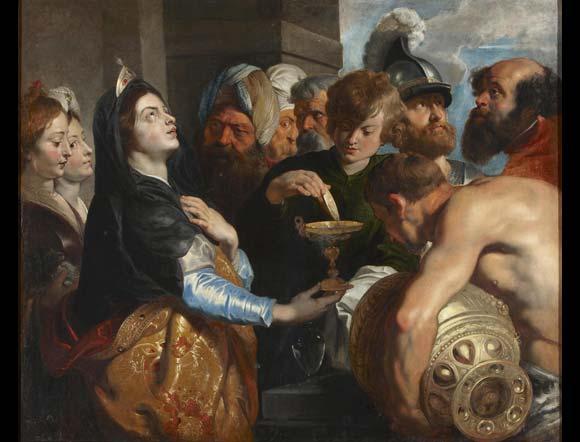 Artemisa. Cornelis de Vos. Pintura Flamenca. Lienzo. 119 x 145 cm. Palacio de Liria   Foto: Museo de Bellas Artes de Sevilla