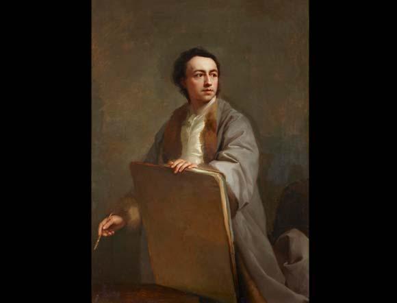 Autorretrato. A. R. Mengs. Pintura alemana. Lienzo. 134 x 96 cm. Palacio de Liria  Foto: Museo de Bellas Artes de Sevilla
