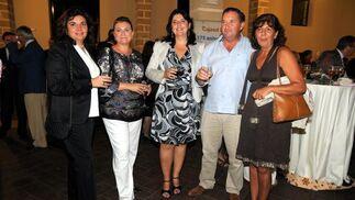 María J. Rodríguez, de la Real Escuela, Míriam Morales (La Atalaya), Rocío Rodríguez, Joaquín Vázquez y Remedios García