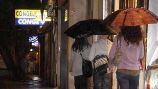 Inundaciones en el carril bici de la calle San Jacinto  Foto: Juan Carlos Mu?
