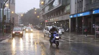 Al centro de la cuidad también llegaron las consecuencias de las lluvias  Foto: Juan Carlos Mu?