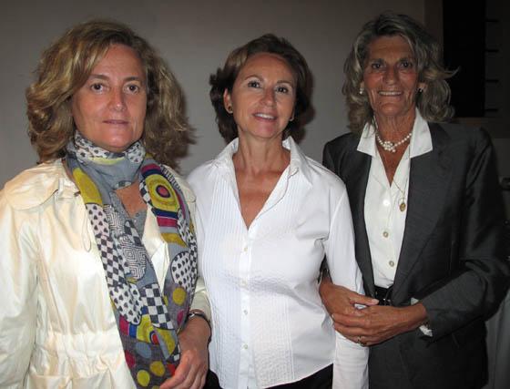 Mercedes Martín Aguirre (Alquitara), Estrella del Rey (BAS) y Loli Fernández de Molina.  Foto: Victoria Ramírez