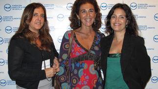 Mercedes Parladé, Ana Serrano y Reyes Conradi.  Foto: Victoria Ramírez