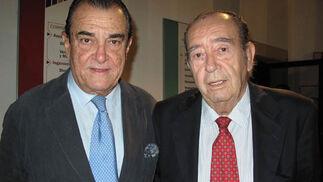 Vicente Ramos y José García de Tejada, patronos del Banco de Alimentos de Sevilla.  Foto: Victoria Ramírez