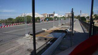 Detalle del estado de las obras en el Puente.  Foto: B.Vargas