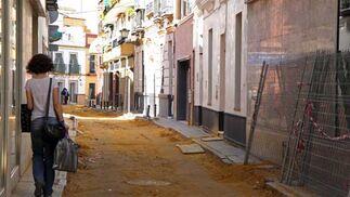 Estado en el que se encuentra la calle Alfarería.  Foto: B.Vargas