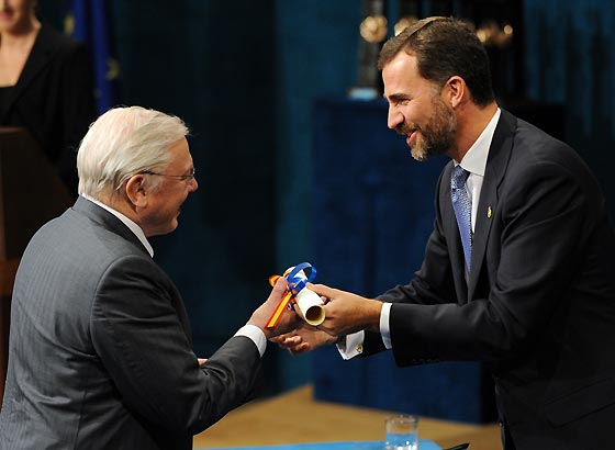 El naturalista británico David Attenborough, Premio Príncipe de Asturias de Ciencias Sociales.  Foto: Efe / Afp Photo / Reuters