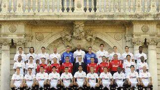Foto Oficial del Sevilla FC 2009/2010.  Foto: Antonio Pizarro