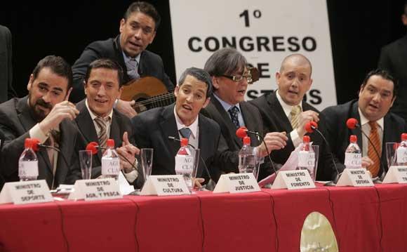 """Chirigota """"Los ministros""""  Foto: Jesus Marin / Lourdes de Vicente"""