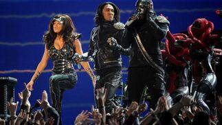 Black Eyed Peas, durante su actuación. / AFP Photo