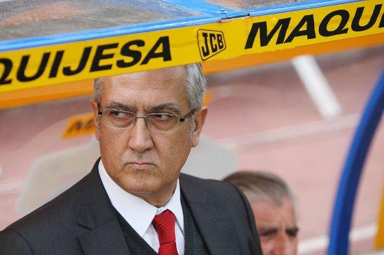 """El entrenador del real Mallorca, Gregorio Manzano, dijo tras el partido que """"cuando hemos querido reaccionar estábamos cansados""""  Foto: Pascual"""