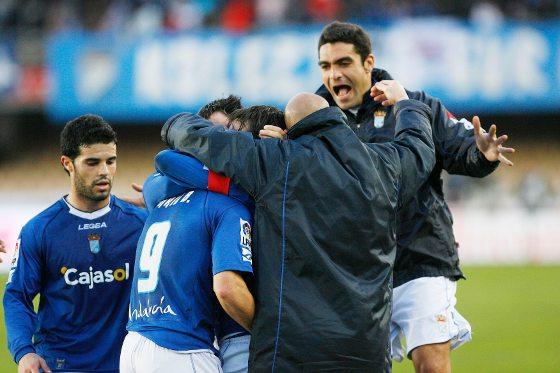 La euforia se desató tras el segundo gol de Carlos Calvo.  Foto: Pascual