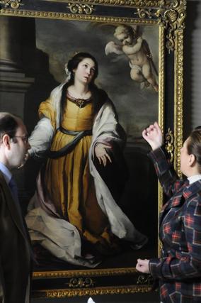 Recepción de 'Santa Catalina de Alejandría Mártir', obra de Bartolomé Esteban Murillo.  Foto: Juan CarlosJuan Carlos Váquez