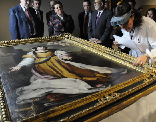 Recepción de 'Santa Catalina de Alejandría Mártir', obra de Bartolomé Esteban Murillo.  Foto: Juan Carlos Váquez