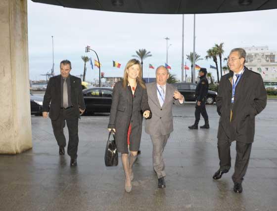 Llegada de la ministra de Igualdad al Palacio de Congresos  Foto: Joaquin Hernandez 'Kiki'