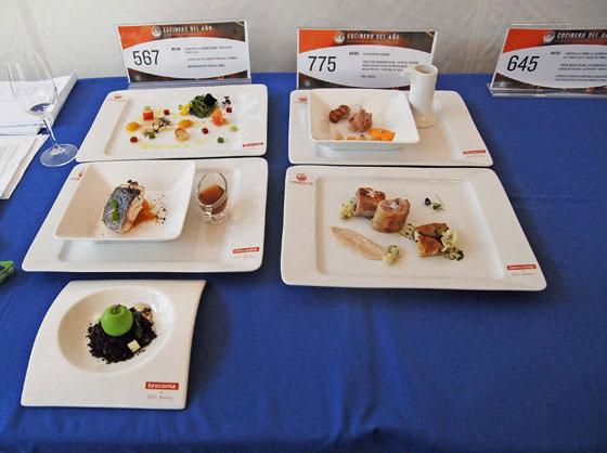 Los platos listos para la degustación   Foto: Manuel Aranda