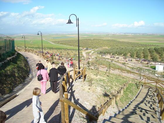 Vista general de la explanada que acoge el nuevo parque medioambiental de El Chorrito.