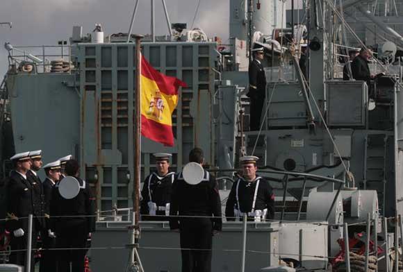 Imágenes de la ceremonia de baja del patrullero Laya en el arsenal de la Carraca  Foto: Elias Pimentel