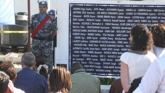 Acto en memoria de los 85 fallecidos de la ONU en el terremoto.