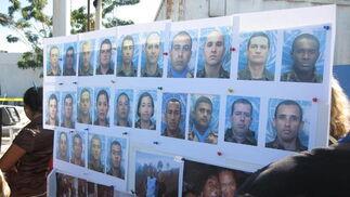 Fotografías de los trabajadores de la ONU fallecidos.