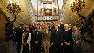 Foto de familia de los asistentes al acto  Foto: Jose Ramon Ladra