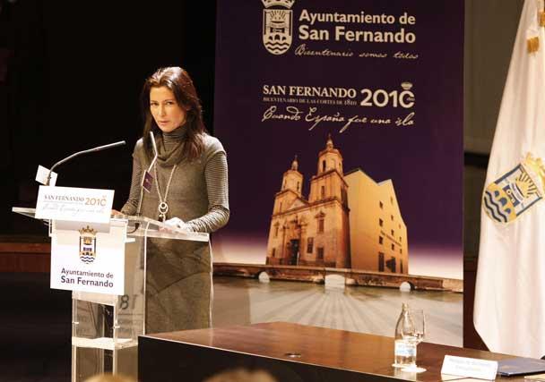 La artista Sara Baras (en representación de la sociedad isleña)arrancó los aplausos de los presentes con un emotivo discurso  Foto: Jose Ramon Ladra