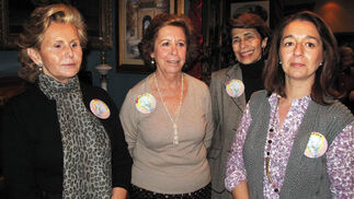 Isabel Vázquez, María Afán de Ribera, Isabel Loring y Charo Lora, de 'Santa Justa y Rufina'.  Foto: Victoria Ramírez