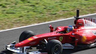 Fernando Alonso en su monoplaza  Foto: Juan Carlos Toro