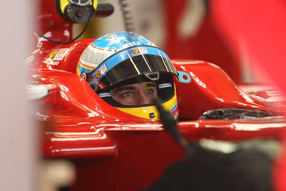 Primer plano de Fernando Alonso  Foto: Juan Carlos Toro